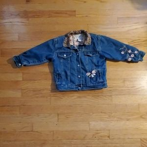 Gap girls embroidered jean jacket